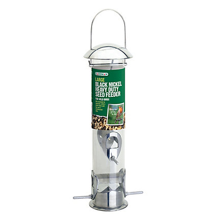 Image for Gardman Large Black Nickel Heavy Duty Seed Feeder from StoreName