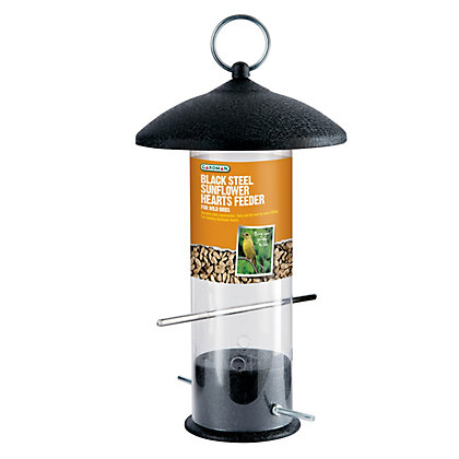 Image for Gardman Large Black Steel Sunflower Heart Feeder from StoreName