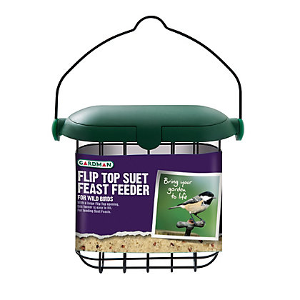 Image for Gardman Flip Top Suet Feast Feeder - Green from StoreName