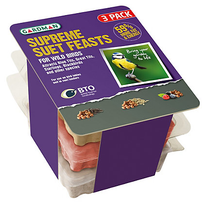 Image for Gardman Supreme Suet Feast (Pack of 3) from StoreName