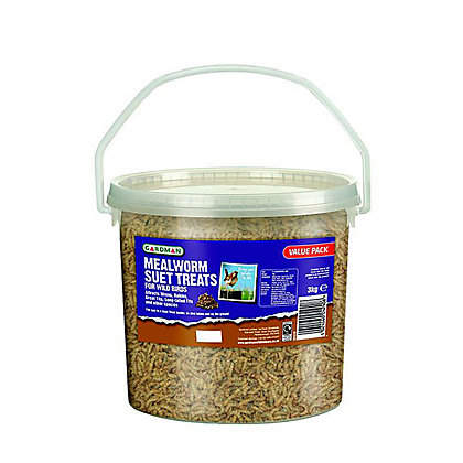 Image for Gardman Mealworm Suet Treats Tub - 3kg from StoreName