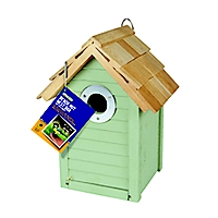 Gardman Wooden Beach Hut Nest Box - Green