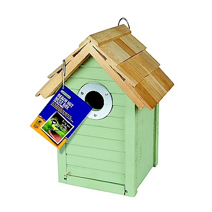 Image for Gardman Wooden Beach Hut Nest Box - Green from StoreName