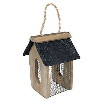 Image for Gardman Peanut Feeder with Slate Roof - Brown from StoreName