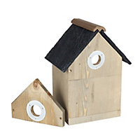 Gardman Wooden Multi Nest Box with Apex Slate Roof