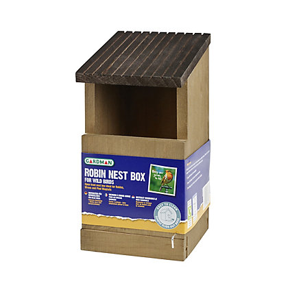 Image for Gardman Wooden Robin Nest Box from StoreName