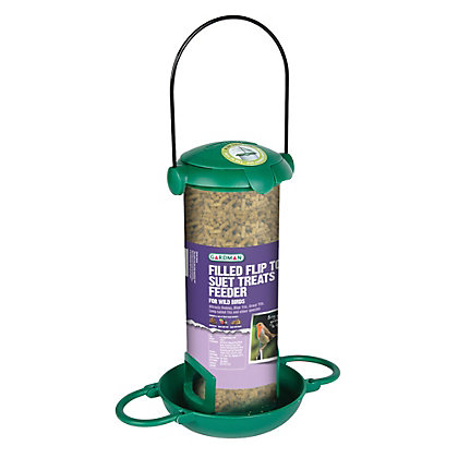 Image for Gardman Filled Flip Top Suet Treats Feeder from StoreName