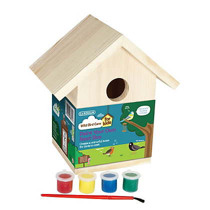 Image for Gardman Wooden Paint Your Own Nest Box from StoreName