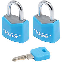 Master Lock Coloured Aluminium Padlocks - 2 x 20mm