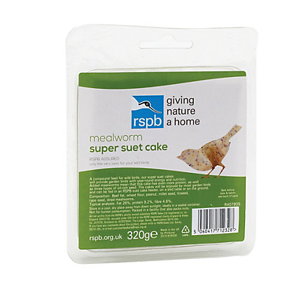 Image for RSPB 320g Super Suet Cake - Mealworms from StoreName
