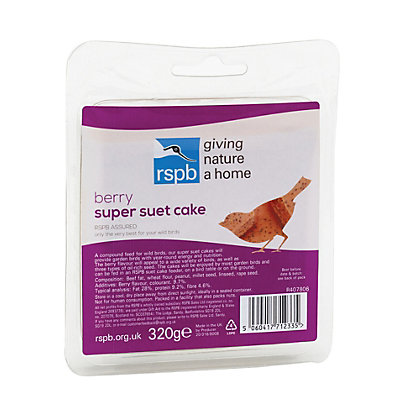 Image for Gardman RSPB 320g Super Suet Cake - Berry from StoreName