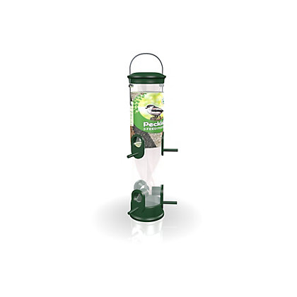 Image for Peckish All Weather 3 Seed Feeder - Green from StoreName