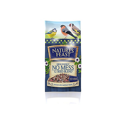 Image for Natures Feast High Energy No Mess 12 Seed Blend Wild Bird Food Mix - 1kg from StoreName