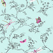 Superfresco Easy Paste the Wall Nature Trail Duck Egg Wallpaper