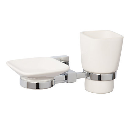 Image for Everson Soap Dish and Tumbler Holder from StoreName