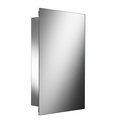 Image for Alvy Large Sliding Door Cabinet - Stainless Steel from StoreName