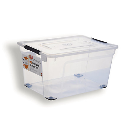 Image for 80L Clear Storage Box from StoreName