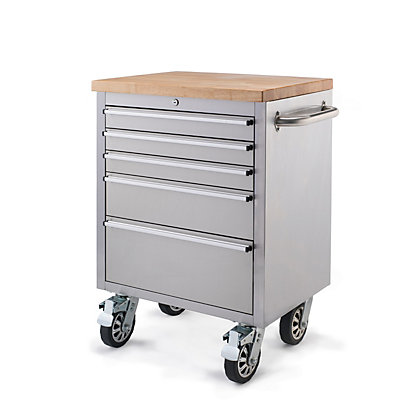 Image for 26 inch Stainless Steel Tool Trolley from StoreName