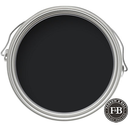 Image for Farrow & Ball No.256 Pitch Black - Exterior Eggshell Paint - 2.5L from StoreName