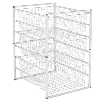 Image for 3 Wire Baskets Storage Tower from StoreName