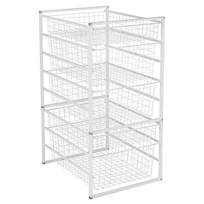 Image for 5 Wire Baskets Storage Tower from StoreName