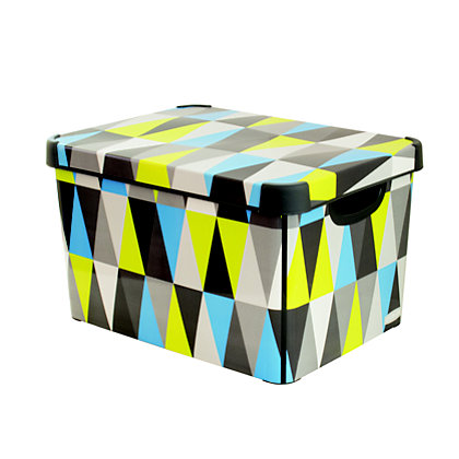 Image for Curver Geometric Deco Storage Box from StoreName