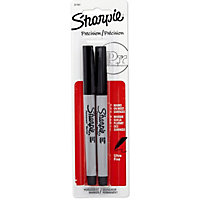 Sharpie Fine Tip Markers Black - 2 pack