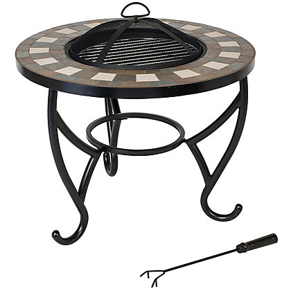 Image for La Hacienda Naxos Fire Pit with Mosaic Surround from StoreName