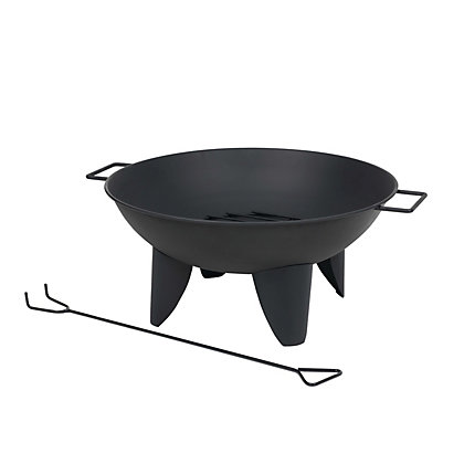 Image for Round Steel Fire Pit - 56cm from StoreName