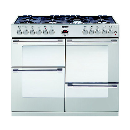 Image for Stoves Sterling R1000DFT Dual Fuel Range Cooker - Stainless Steel from StoreName