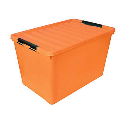Image for 60L Storage Box - Orange from StoreName