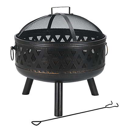 Image for Fire Pit with Lid - 66cm from StoreName