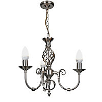 Madagascar  3 Light Fitting - Satin Nickel Effect