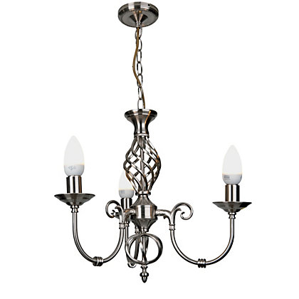 Image for Madagascar Satin Nickel Effect Chandelier from StoreName