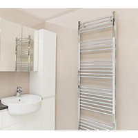 Qual-Rad Straight Heated Towel Rail - 1800 x 500mm - Chrome