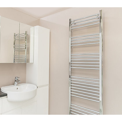Image for Qual-Rad Straight Heated Towel Rail - 1800 x 500mm - Chrome from StoreName