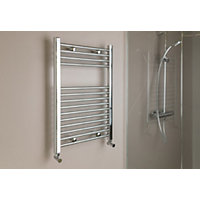 Qual-Rad Straight Heated Towel Rail - 750mm x 600mm - Chrome