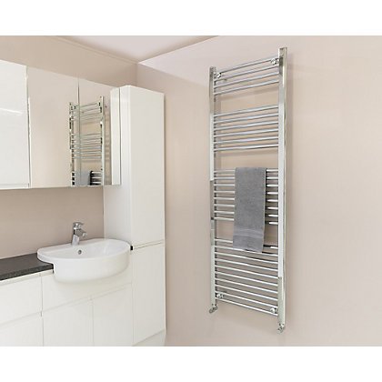 Image for Qual-Rad Straight Heated Towel Rail - 1500mm x 600mm - Chrome from StoreName