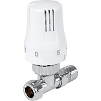 Thermostatic Radiator Valve - Straight - White