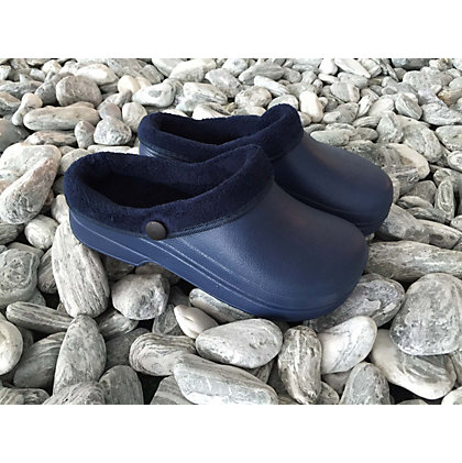 Image for Town & Country Navy Furry Cloggie Garden Footwear - Small from StoreName