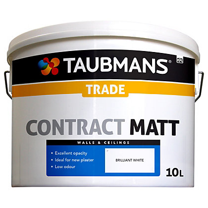 Image for Taubmans Contract Matt Brilliant White - 10L from StoreName
