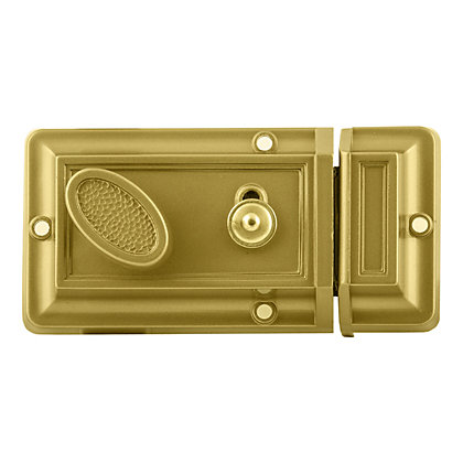 Image for Rim Night Latch - Gold from StoreName