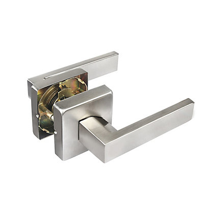 Image for Ikonic Victoria Brushed Nickel Passage Lever Set from StoreName