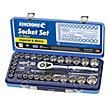 Kincrome Socket Set Mirror Polish 1/2in - 51 Piece
