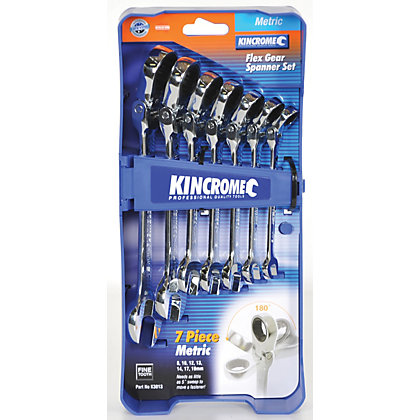 Image for Kincrome Flex Head Spanner Set - 7 Piece from StoreName
