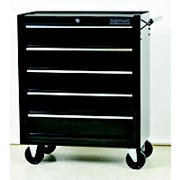 Supatool Tool Trolley 5 Drawer - Black