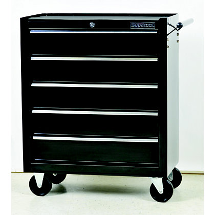 Image for Supatool Tool Trolley 5 Drawer - Black from StoreName