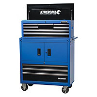 Kincrome Chest & Trolley Combo 10 Drawer - Blue