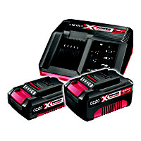 Ozito Power X Change 18V 4Ah, 2Ah & Fast Charger Kit PXBC-007U