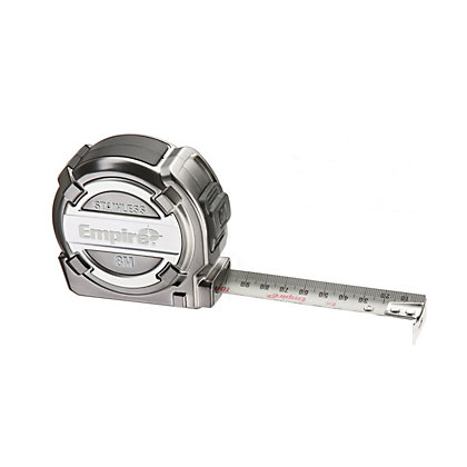 Image for Empire EM08SST Stainless Steel Tape Measure - 8m from StoreName